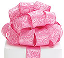 #9 ROSES ON PINK SATIN WIRED RIBBON
