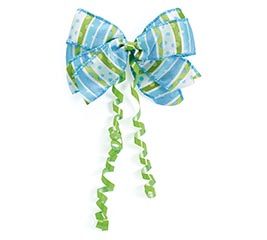 #9 LIL BABY DOTS BLUE BOW