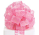 RIBBON #40 SHEER PINK ROSES