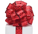 #9 METALLIC RED HEARTS WIRED RIBBON