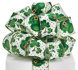 #9 ST. PATRICK'S DAY SATIN WIRED RIBBON