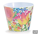 "4"" SPRING FLOWERS MELAMINE POT COVER"