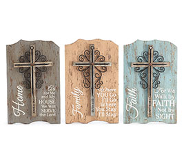 CROSS/RELIGIOUS MESSAGES WALL HANGING