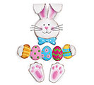 WREATH KIT EASTER BUNNY HOLDING EGGS