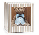 RESIN TEDDY BEAR/BLUE VEST BANK 2nd Alternate Image
