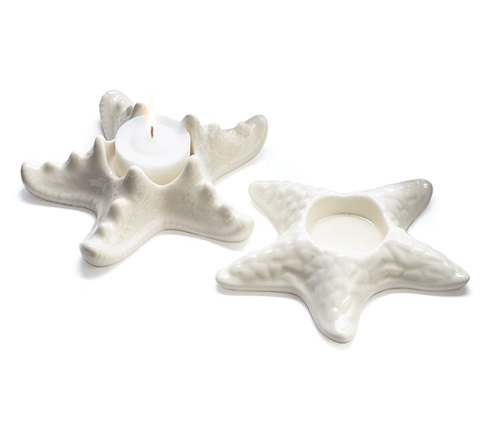 CERAMIC STARFISH VOTIVE CANDLEHOLDER