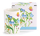 MUG BLUE IRIS AND MIXED FLOWERS