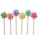 "DECOR 19"" POLKA DOT PINWHEEL ASTD"