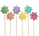 DECOR XL PINWHEEL POLKA DOT ASTD
