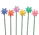 DECOR FLOWER PINWHEEL ASTD