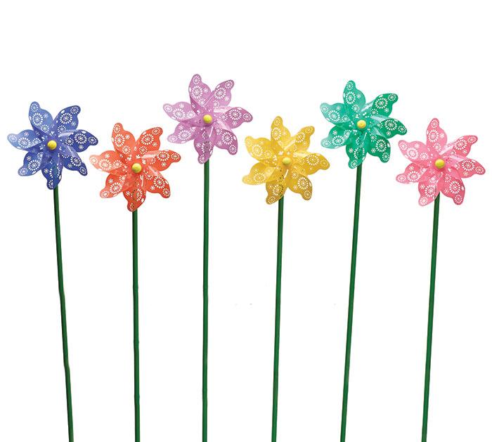 DECOR FLOWER PINWHEEL ASTD