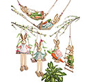 DECOR 6 PC SWINGING BUNNY FAMILY