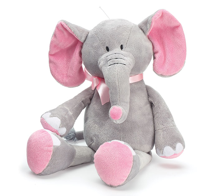 PLUSH PINK/GRAY ELEPHANT