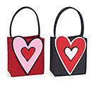 BAG FELT VALENTINE HEART ASTD