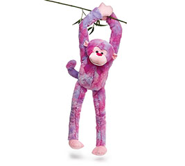 PLUSH RAINBOW MONKEY WITH LONG ARMS