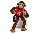 PLUSH VALENTINE SPIDER MONKEY BE MINE