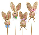 BURLAP BUNNY EASTER PICK SET