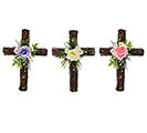 FLORAL CROSS ARRANGEMENT ASTD COLORS