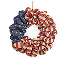 PATRIOTIC BURLAP FLAG WREATH