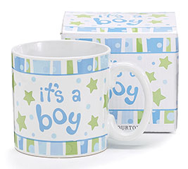 IT'S A BOY CERAMIC MUG W/ BOX