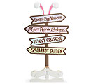 DECOR EASTER BUNNY ROAD SIGN