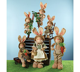 DECOR 5 PC BUNNY FAMILY ASSORTED