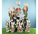 DECOR EASTER BUNNY FAMILY ASTD STYLES