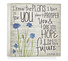 JEREMIAH 29:11 WOOD BLOCK WALL HANGING
