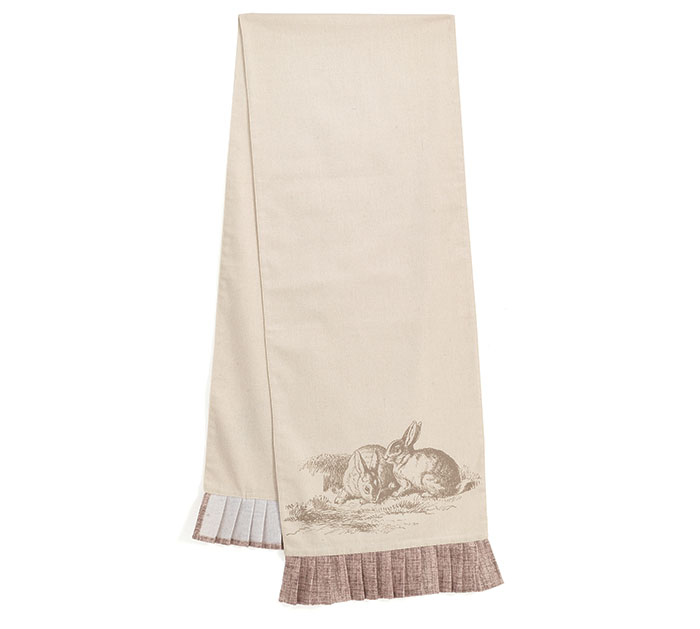 NATURAL BUNNIES TABLE RUNNER