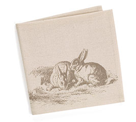 NATURAL BUNNIES NAPKIN