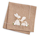 NATURAL BURLAP BUNNIES NAPKIN