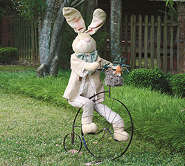 DECOR BUNNY ON BICYCLE