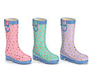 SUMMER PASTEL CERAMIC RAIN BOOT SET