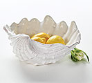 BOWL WHITE SHELL CERAMIC