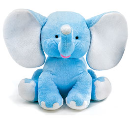 PLUSH BLUE BUDDY ELEPHANT