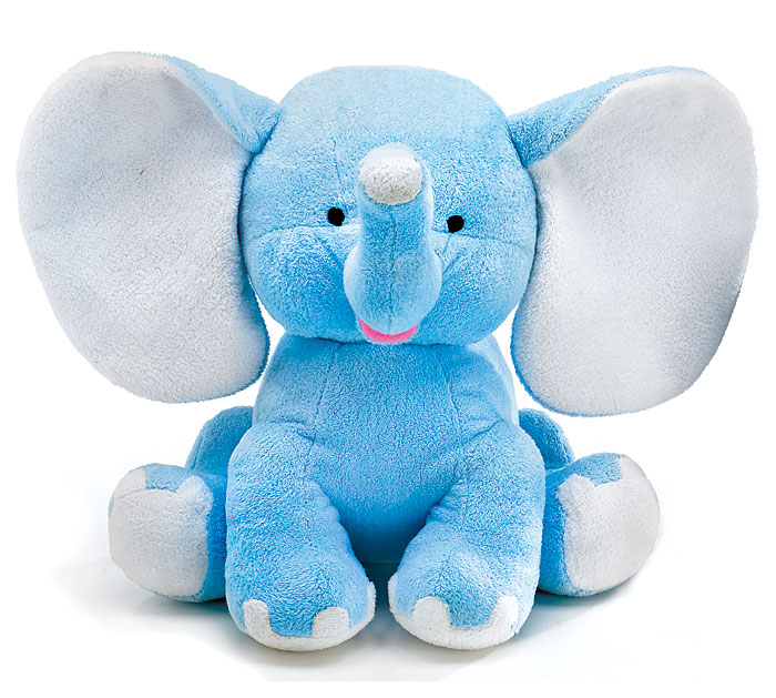 PLUSH BLUE BUDDY ELEPHANT