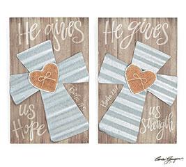 PSALM 28:7/PSALM 71:5 CROSS WALL HANGING