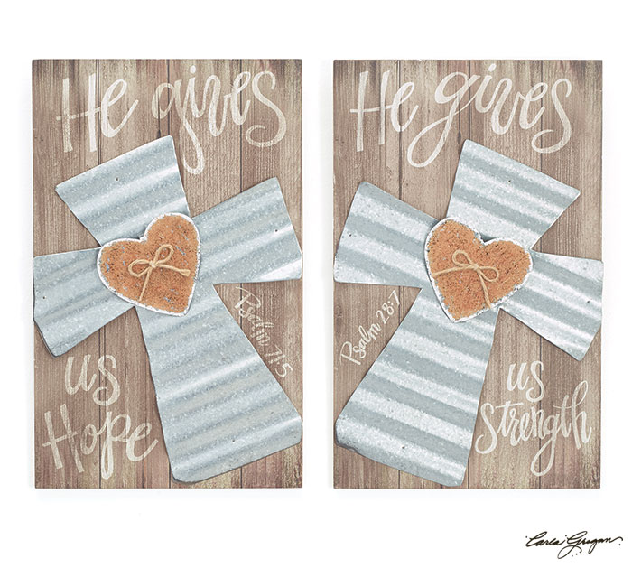PSALM 28:7/PSALM 71:5 CROSS WALL HANGING