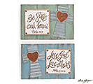 RELIGIOUS MESSAGES WOOD/TIN WALL PLAQUE