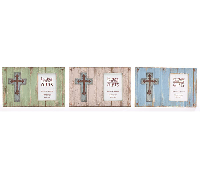 FRAME WOOD PLANK ASTD WITH CROSSES