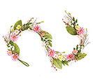 "GARLAND 62"" PINK AND YELLOW DAISIES"