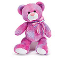 PLUSH PINK AND PURPLE BEAR