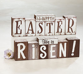 REVERSIBLE EASTER MESSAGES WOOD SIGN