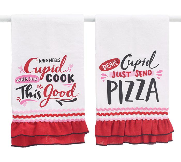 CUPID MESSAGES TEA TOWEL SET