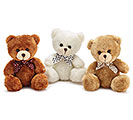 PLUSH BEIGE/RUST/WHITE BEAR SET