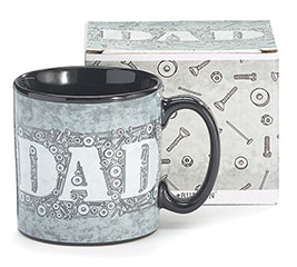 DAD/NUTS AND BOLTS CERAMIC MUG W/BOX