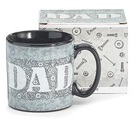DAD/NUTS AND BOLTS CERAMIC MUG W/BOX