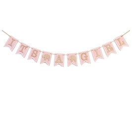 IT'S A GIRL BANNER GARLAND