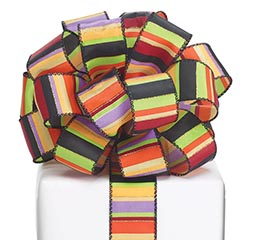 #9 HALLOWEEN STRIPES WIRED RIBBON