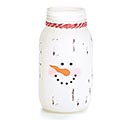 VASE GLASS MASON JAR SNOWMAN